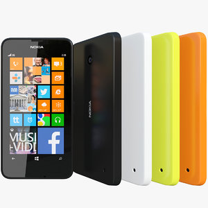 3d model realistic nokia lumia 630