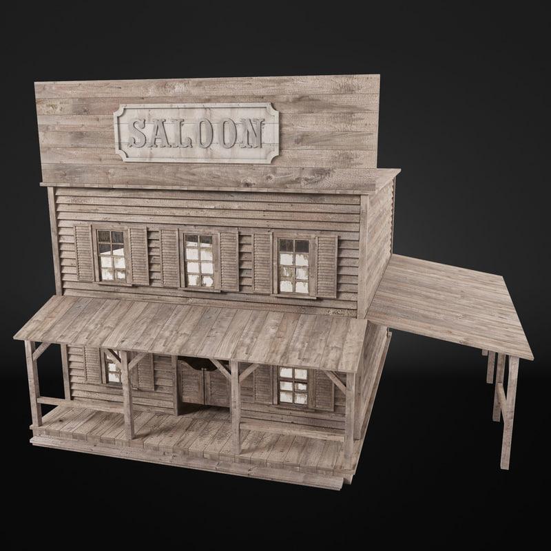 saloon 3d max