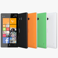 realistic nokia lumia 930 3d model