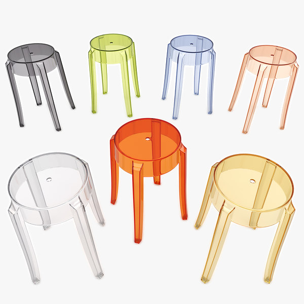 3d dxf charles ghost stool 4897