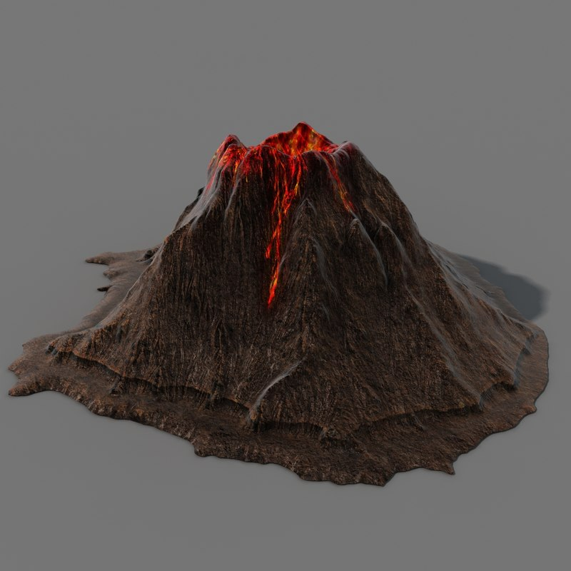 how to prepare a volcano model