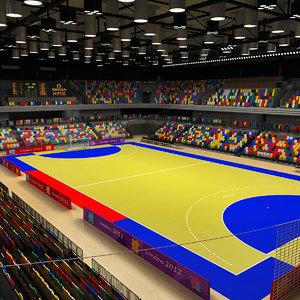 3d handball arena model