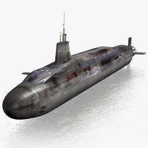 3d hms vanguard s28 submarine
