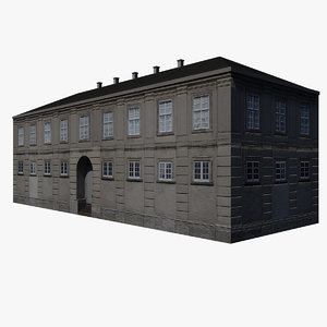 3ds max old building 1700s