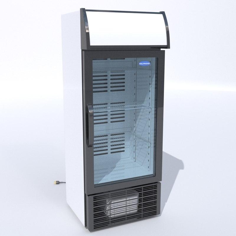 3d model beverage fridge