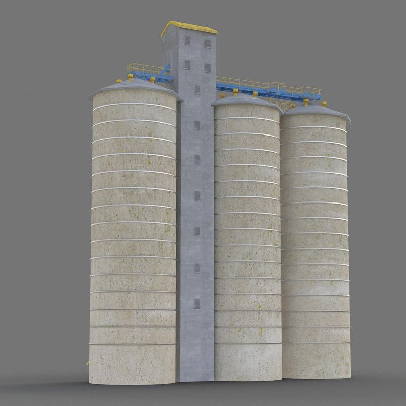 3d grain elevator
