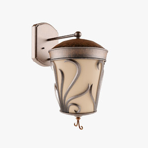 3d outdoor wall sconce