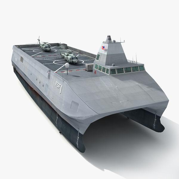 3d model of uss sea fighter