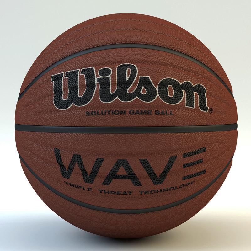 basketball wilson wave 3d max