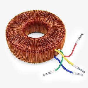 3d model electric transformer current