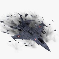 3ds max f16 fighter crash site