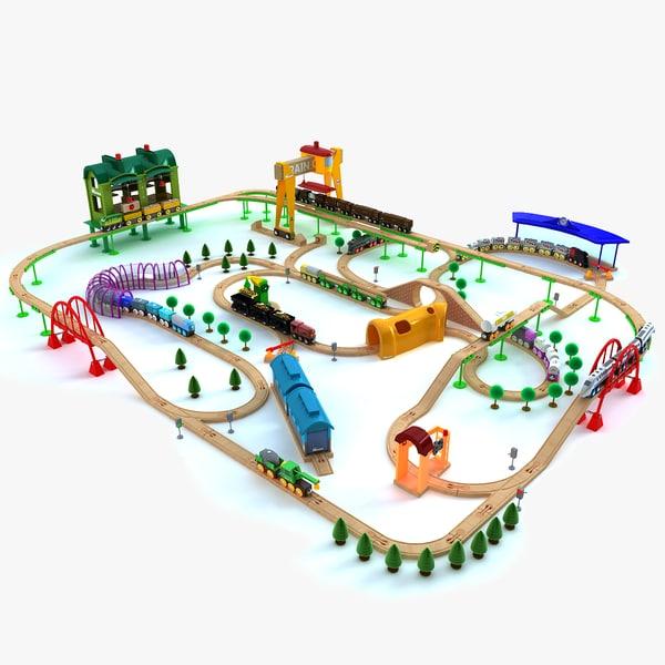 3ds kids train toy set