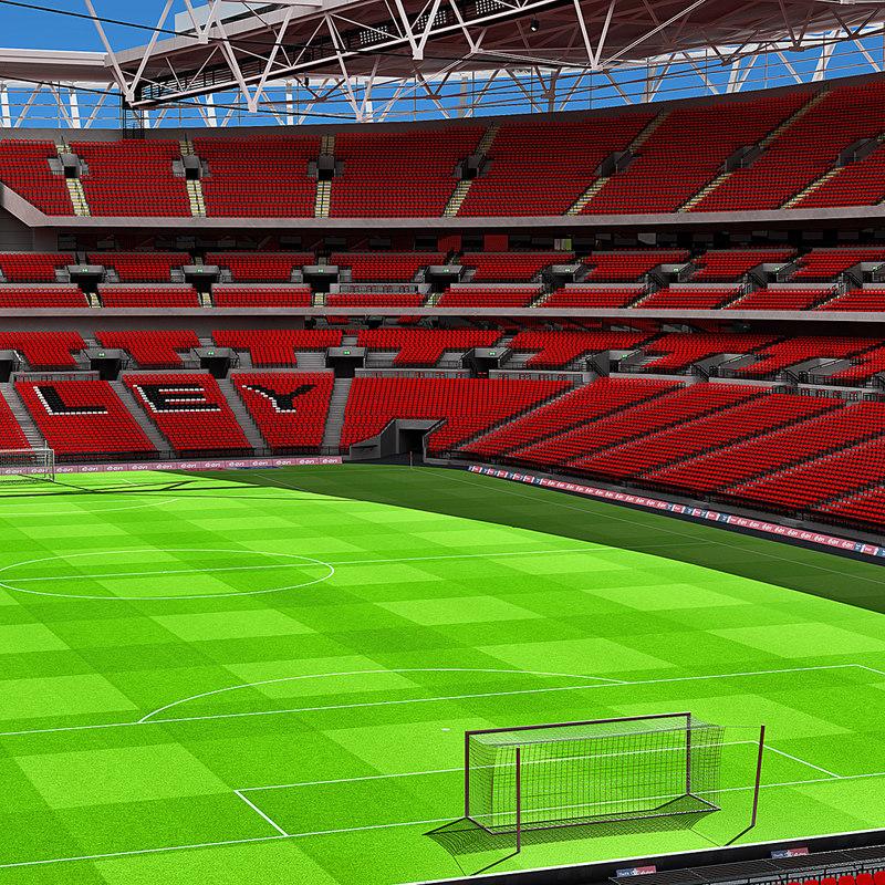 wembley stadium 3d model