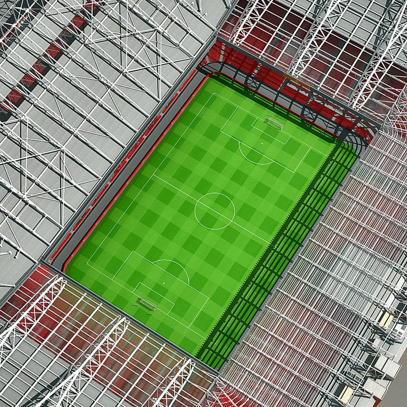 old trafford stadium 3d model