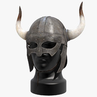 viking horned helmet 3d max