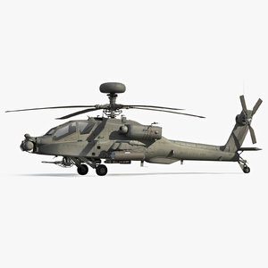 apache longbow helicopter 3d model