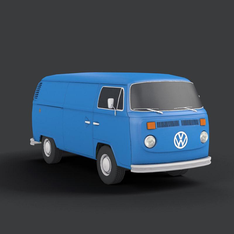 3d model bus 4x4 vintage