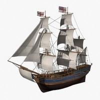hms bounty 3d model
