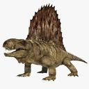 Dimetrodon 3D models