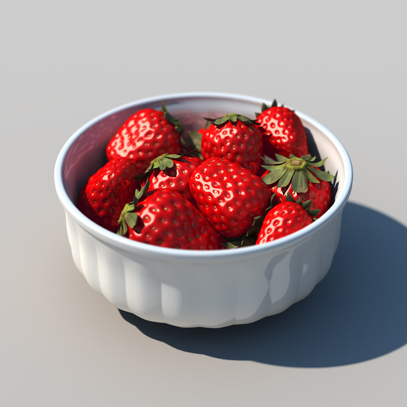 strawberry bowl 3d model
