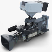 3d 3ds sony-canon-ikegami digital btc camcorder