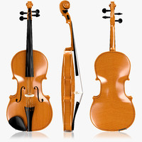 violin wood 3d 3ds