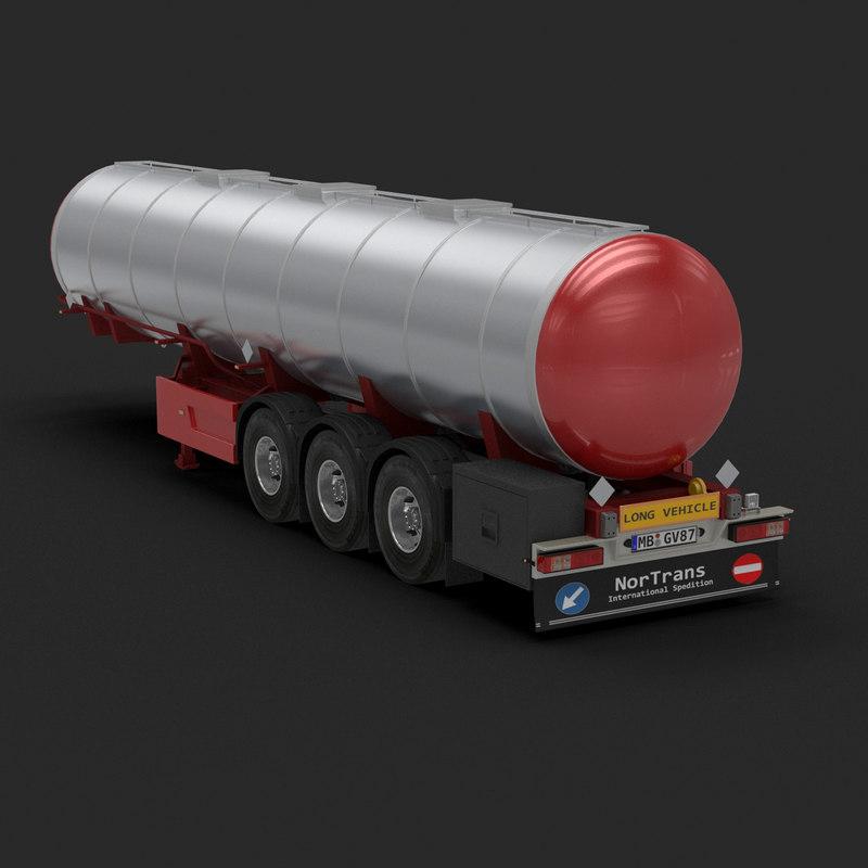 long tanker trailer 3d 3ds