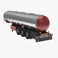 long tanker trailer 3d 3ds