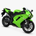 Sport motorcycle 3D models