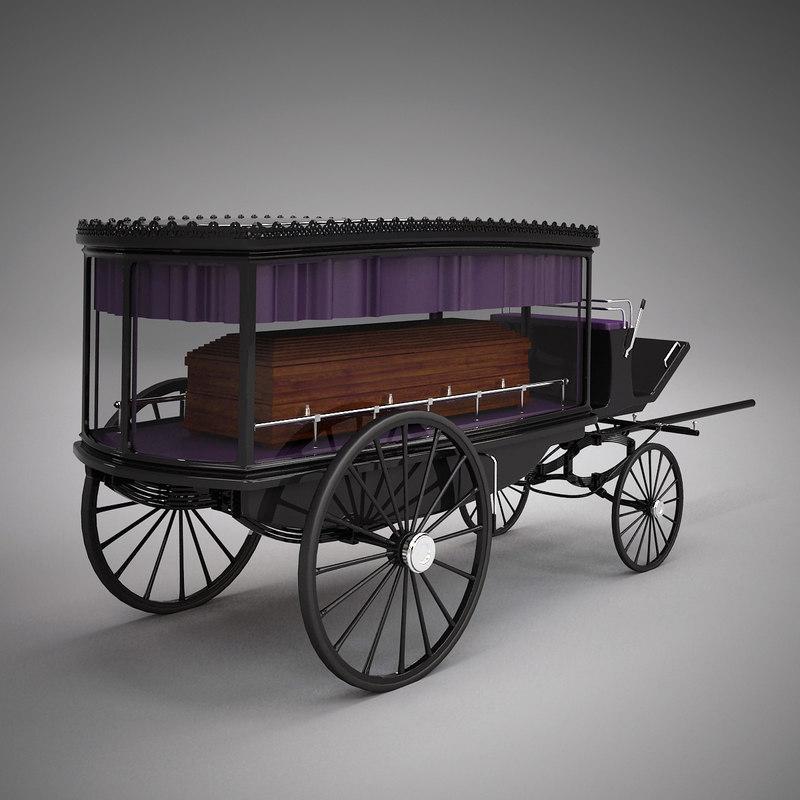 3d hearse coffin model