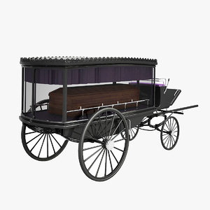3d hearse coffin model
