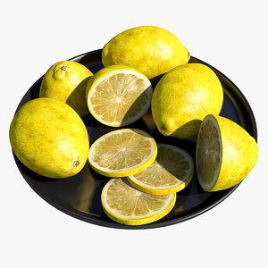 3d lemon fruit model
