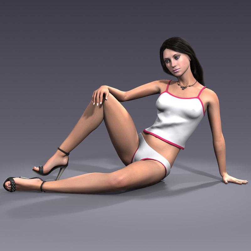 3d character mia model