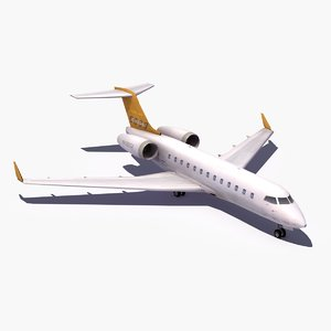 bombardier global 5000 jet 3d model
