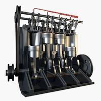 L4 16V Engine Cutaway