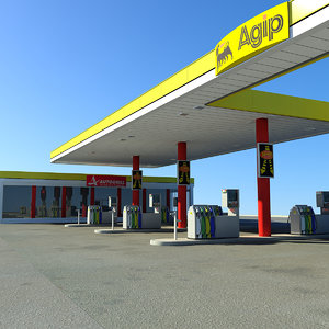service gas station 3d model