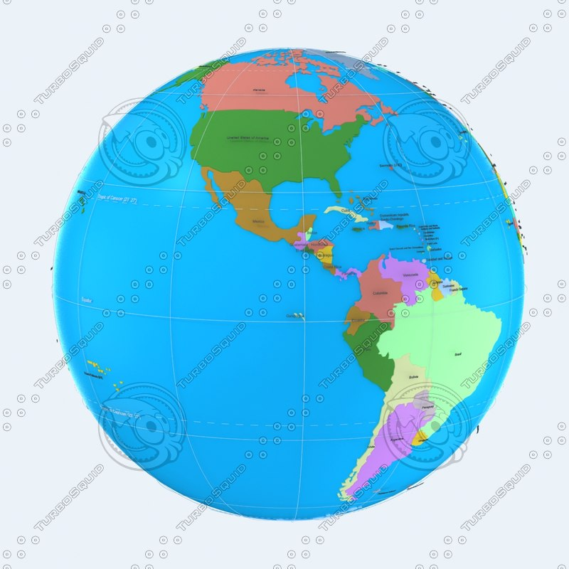 model geopolitical globe political