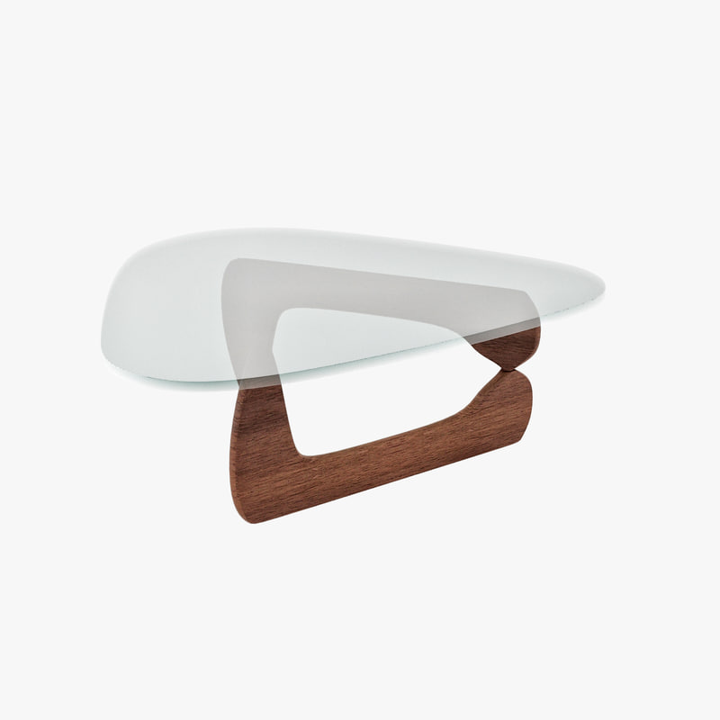 design isamu noguchi coffee table 3d model