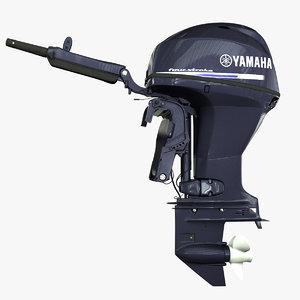 yamaha engine 3d model