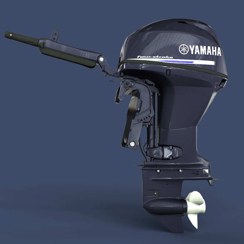 yamaha engine 3d model
