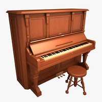 antique piano 3ds