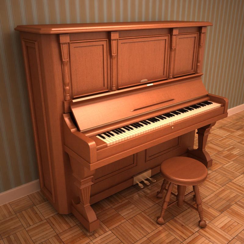 antique piano 3ds