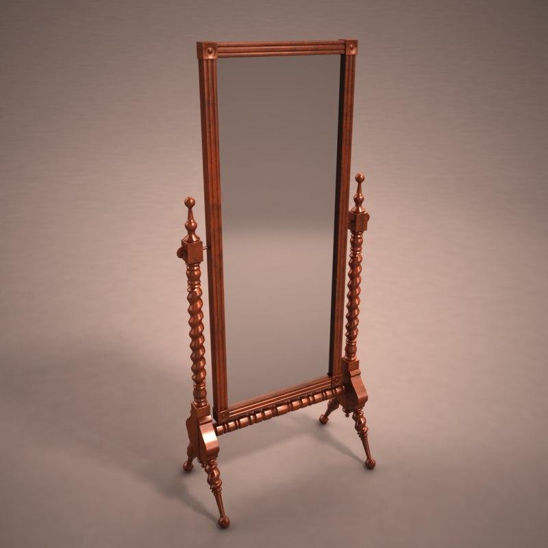 3d standing mirror