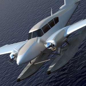 business plane small 3d max