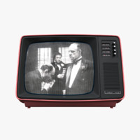 old style retro tv 3d model