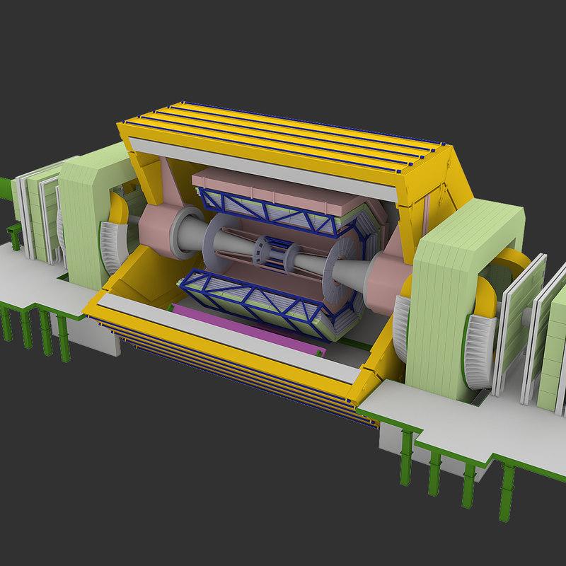 3dsmax large hadron collider -