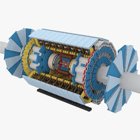 3d large hadron collider - model
