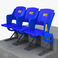 stadium seats 3d 3ds