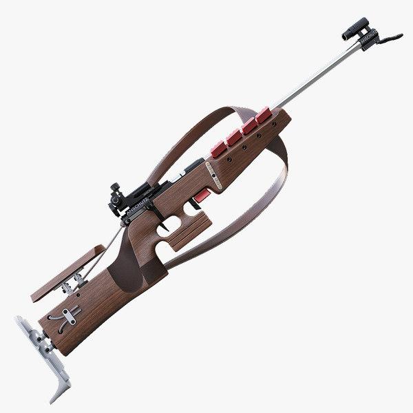 3dsmax biathlon rifle