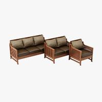 3dsmax design oak park chair
